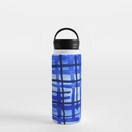 Blue Plaid Water Bottle