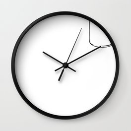 Shits Given Wall Clock