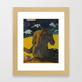 Paul Gauguin - Woman at the beach (1892) Framed Art Print