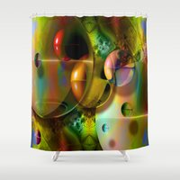 cosmos Shower Curtains featuring Cosmos by Robin Curtiss