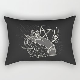 Witchy things - black Rectangular Pillow