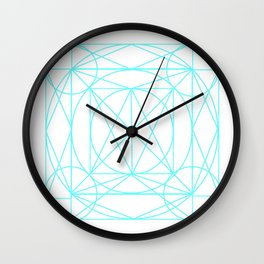 Stained Glass- Blue  Wall Clock