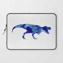 Blue T Rex Watercolor Painting Laptop Sleeve