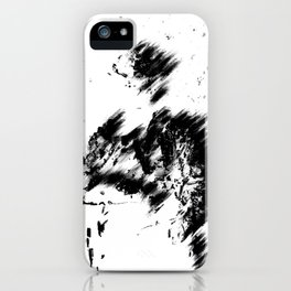Abstract Soldier (Black) iPhone Case