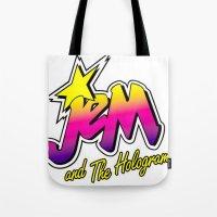 jem Tote Bags featuring Jem by LuxuryLivingNYC
