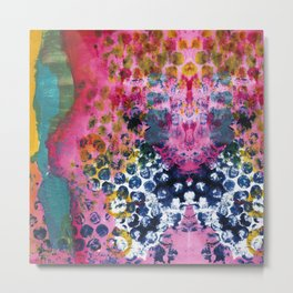 Streams of Pink and Bubbles Metal Print