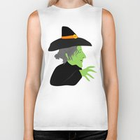 witch Biker Tanks featuring Witch by Jessica Slater Design & Illustration