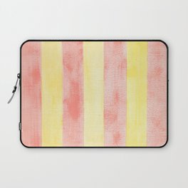 Pink and yellow stripes Laptop Sleeve