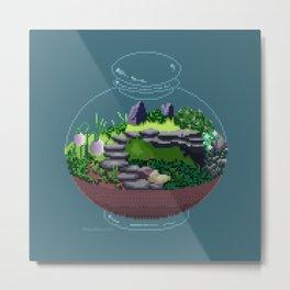 Mossy Terrarium Metal Print