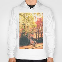 new york city Hoodies featuring New York City by Vivienne Gucwa