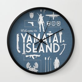 Welcome To Yamatai Island - Tomb Raider Wall Clock