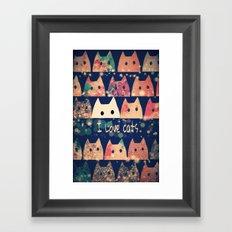 cat-907 Framed Art Print