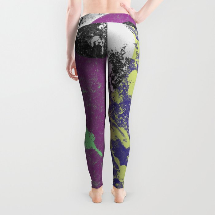 Gather Together - Abstract, pastel coloured, textured, artwork Leggings