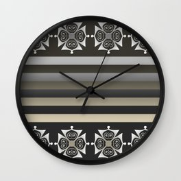 Ombre Blanket Stripes and Medallions Wall Clock