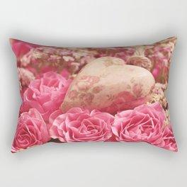 Pink Roses of Love Rectangular Pillow