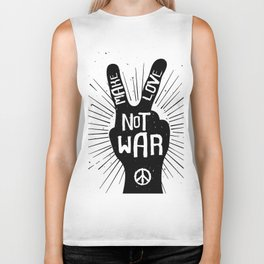 Peace make love not war Biker Tank