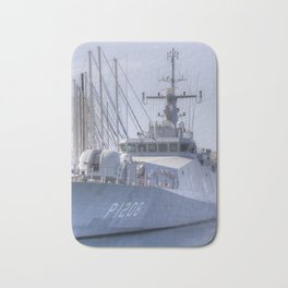Turkish Navy Tuzla Class Patrol Boat Bath Mat