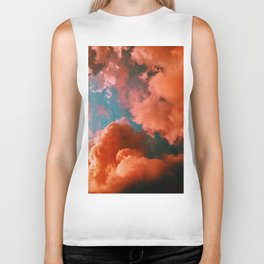 The Pink Clouds (Color) Biker Tank