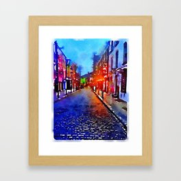 Dublin at Night (Soaked Collection) Framed Art Print
