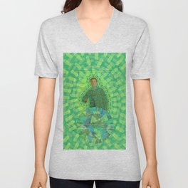 Lime Man Unisex V-Neck