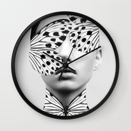 Woman Butterfly Wall Clock