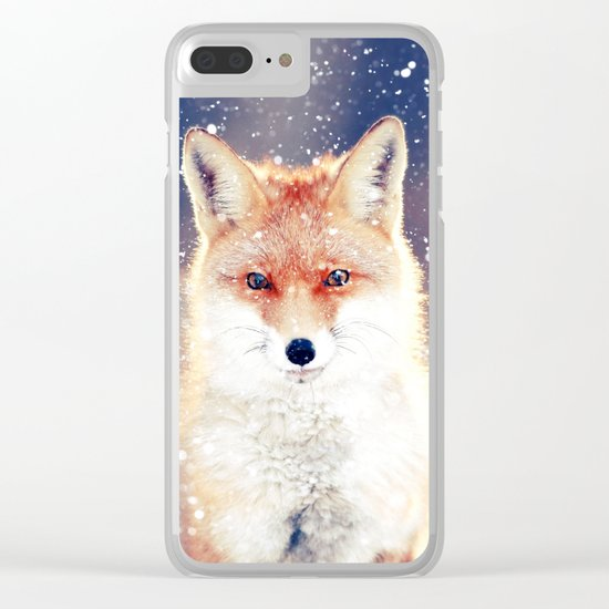 Cute wolf Clear iPhone Case