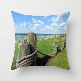 South Haven Mi shore line Throw Pillow