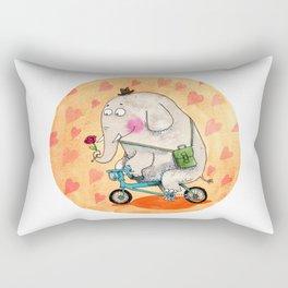 Elephant in love Rectangular Pillow