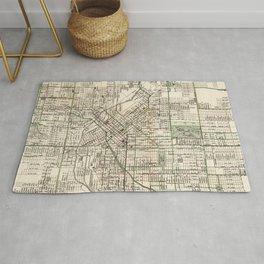 Vintage Map of Denver Colorado (1920) Rug