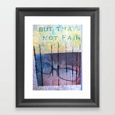 UNFAIR Framed Art Print