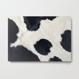 Cow Skin Metal Print