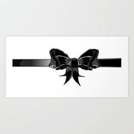 Black Silk Bow Art Print