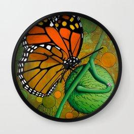 Monarch & Swan Plant Wall Clock