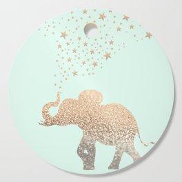 ELEPHANT - GOLD MINT Cutting Board