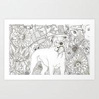 trippy Art Prints featuring Trippy by Kandus Johnson