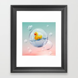 The Bubble Ducky Framed Art Print