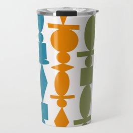 Colorful Wooden Beads Illustration Travel Mug