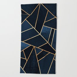 Navy Stone Beach Towel