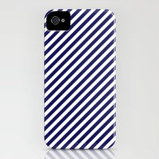 Classic Stripes in Navy + White iPhone (4, 4s) Slim Case