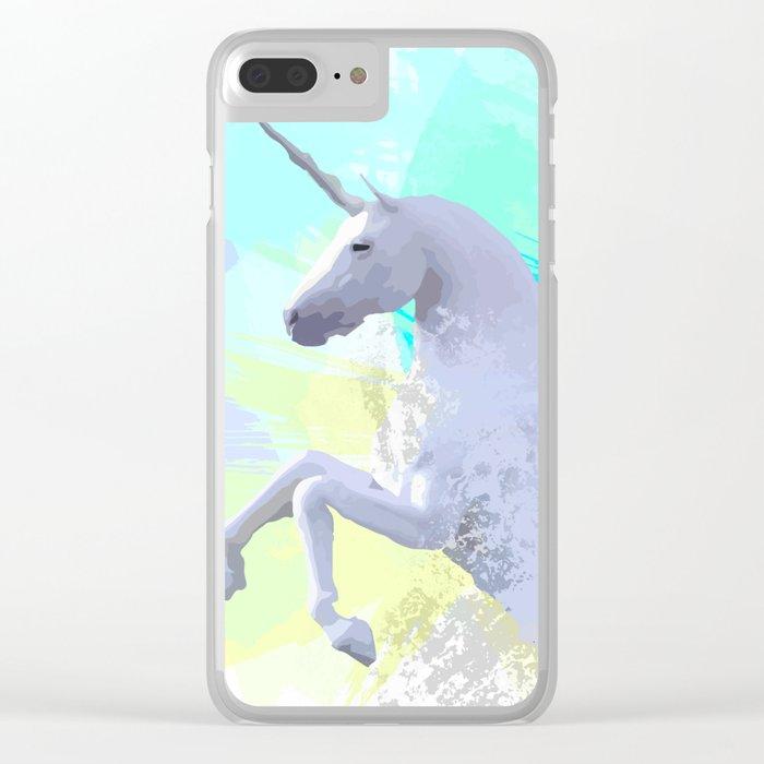 Magic Unicorn I Clear iPhone Case