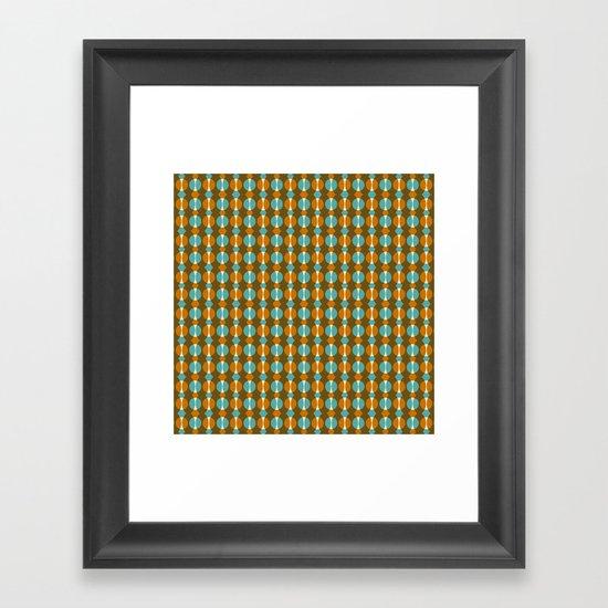 Retro Eight Framed Art Print