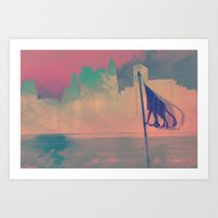 nyc Art Prints featuring NYC by Devin Stout