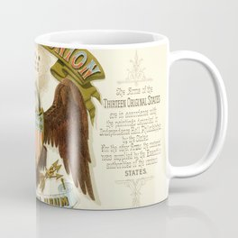 State arms of the union / 1876 Coffee Mug