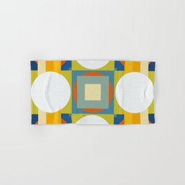 Abstract Retro Colored Shapes Hand & Bath Towel