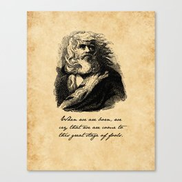 King Lear - William Shakespeare Canvas Print