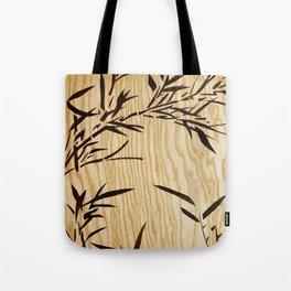 Japanese bamboo buddha wood art Tote Bag