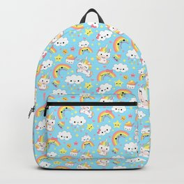 Happy Rainbows and Unicorns Backpack