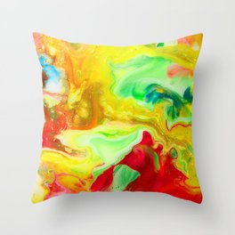 Funky Sensation  Throw Pillow