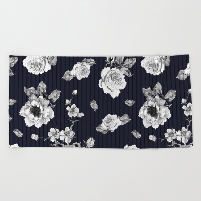 Flowers With Effect Beach Towel