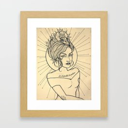 PALABRAS Framed Art Print